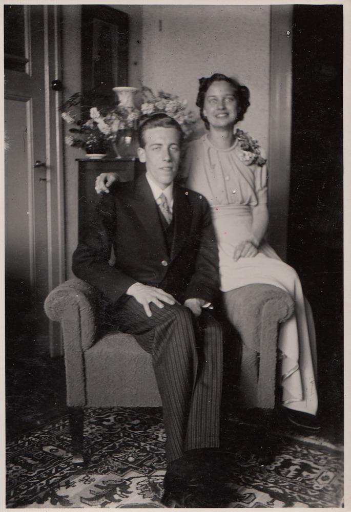 Verlovingsfoto Willem Barnard & Christina van Malde