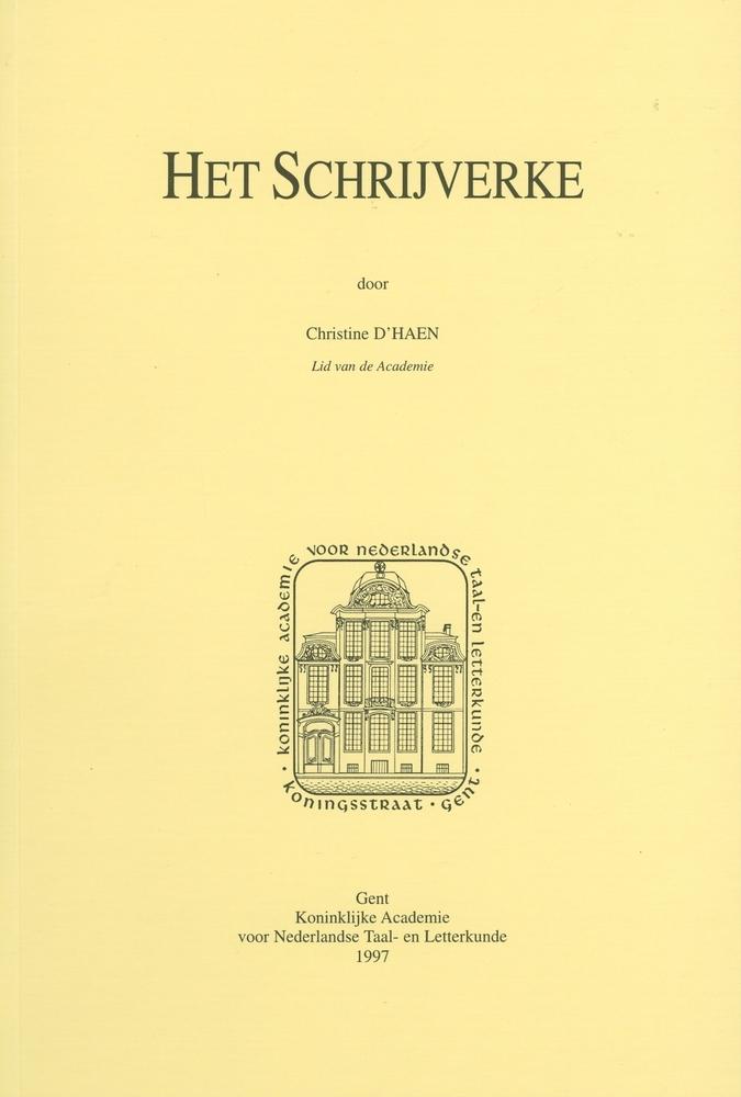 Cover 'Het schrijverke' - Christine D'haen