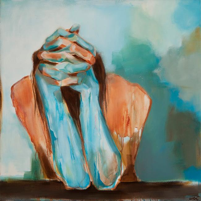 Serie schilderijen 'Orewoet' van de Nederlandse kunstenares en schrijfster Cobi van Baars