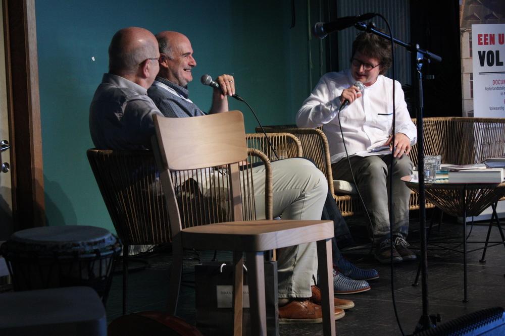 Roel Richelieu Van Londersele & Herman Balthazar op Apéro Poëzie #4 tijdens TAZ 2018