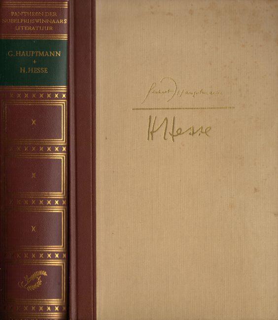 cover 'Pantheon der Nobelprijswinnaars Literatuur', deel Hesse en Hauptmann