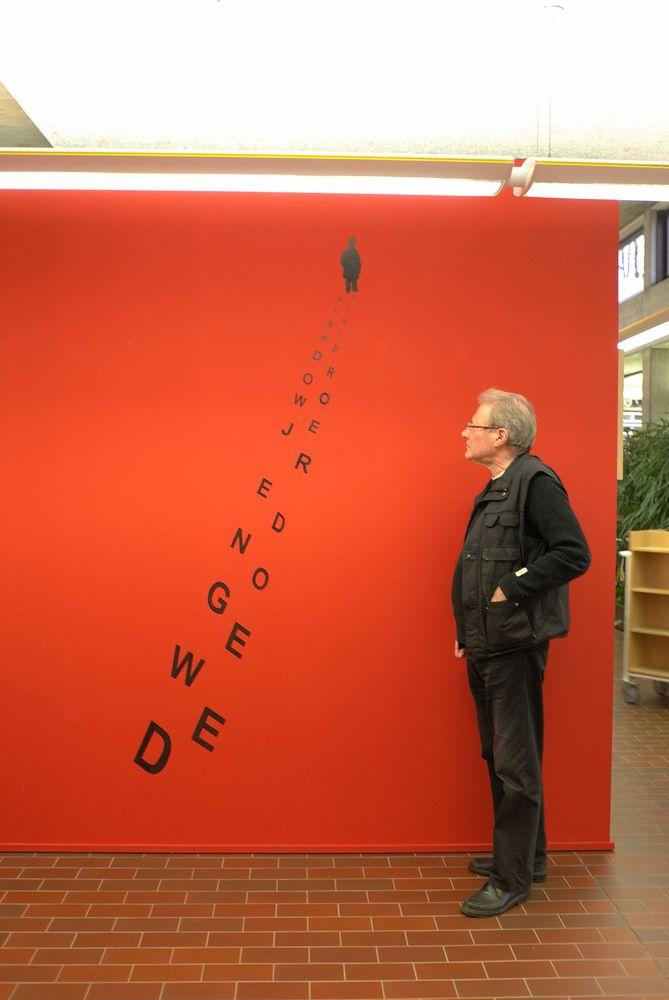 Gedicht van Renaat Ramon in Bibliotheek van Knokke