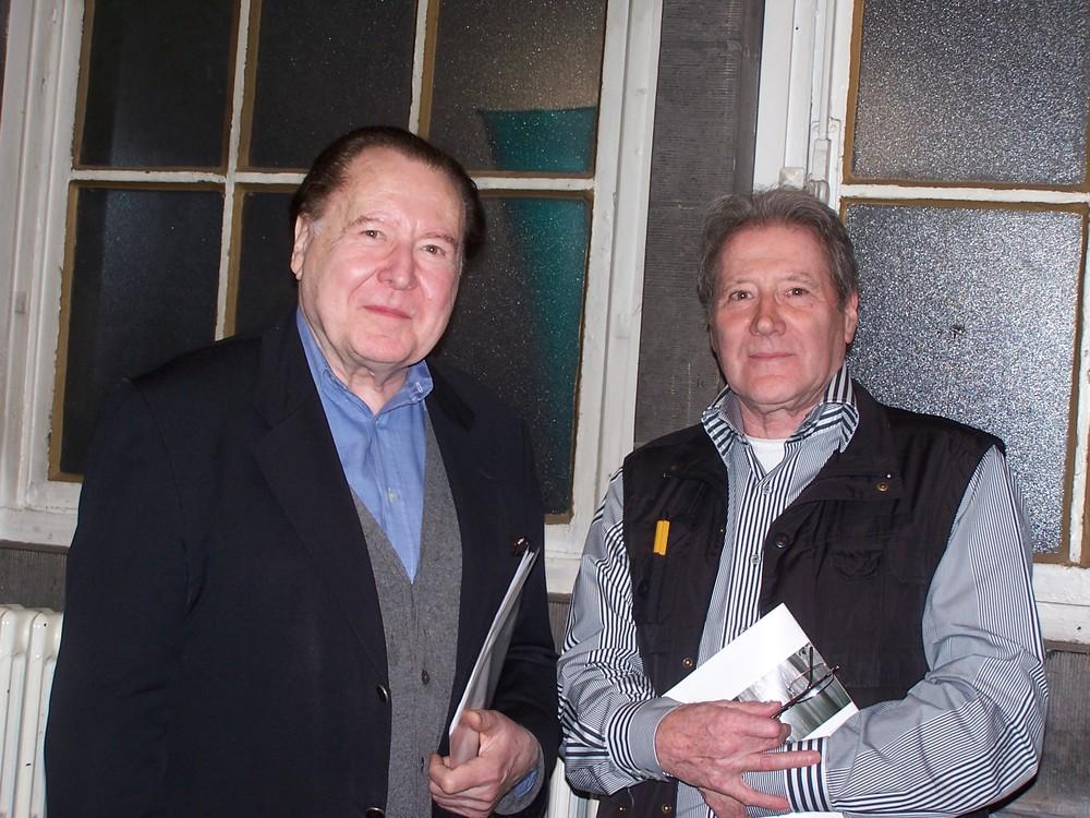 Renaat Ramon en Gerhard Rühm tijdens DRUKsel