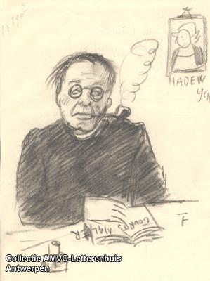 Tekening van Jozef van Mierlo (1878 - 1958) door Felix Timmermans