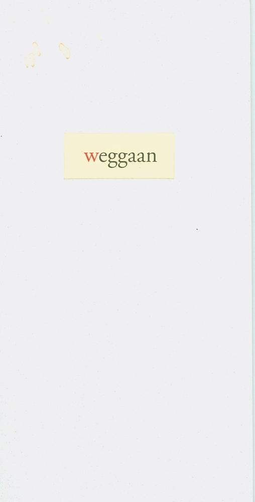 Cover Weggaan - Jozef Deleu
