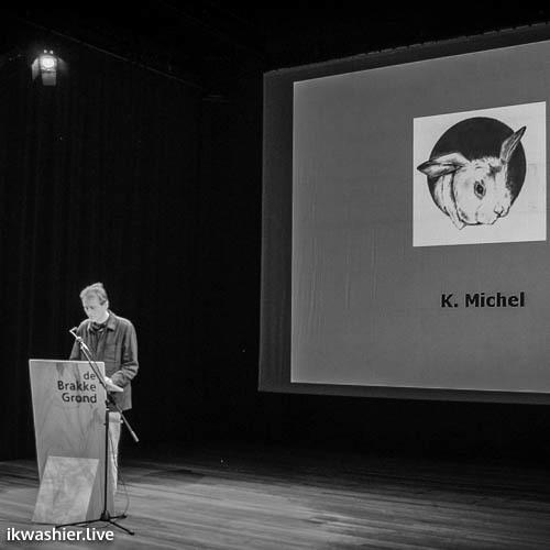Voorstelling 2e aflevering 'Het Liegend Konijn' in De Brakke Grond - K. Michel