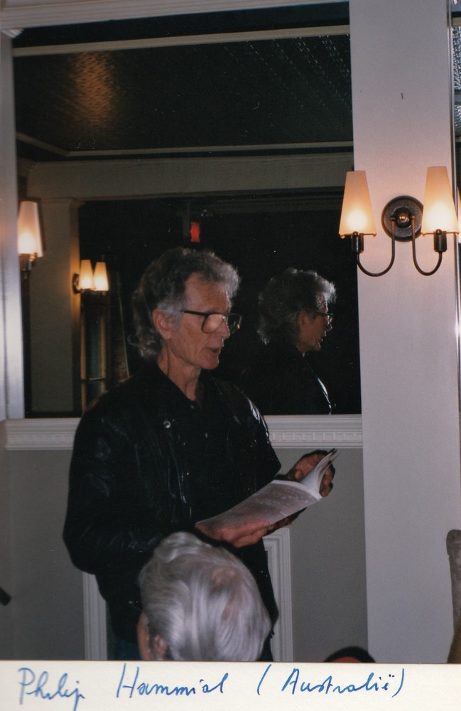 Australische dichter Philip Hammial tijdens het Festival International de la Poésie in Trois-Rivières