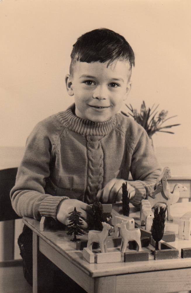 Benno Barnard op de kleuterschool in Amsterdam