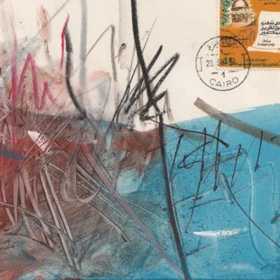 Beschilderde envelop Nic van Bruggen.