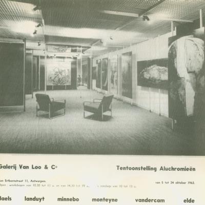 Promotietekst Tentoonstelling Aluchromieën - Galerij Van Loo - bijlage bij het tijdschrift 'Ruimten', aflevering 7/8 (1963)