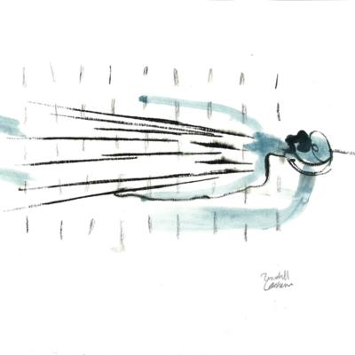 Tekeningen van Randall Casaer op Apéro Poëzie #1 tijdens TAZ 2018