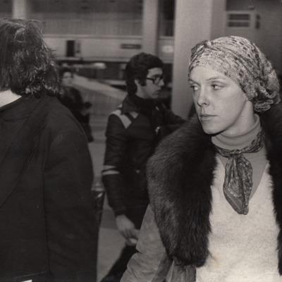 Nic Van Bruggen en Jetty Roels op weg naar Leningrad© Gerald Dauphin, Collectie Fotomuseum Antwerpen.