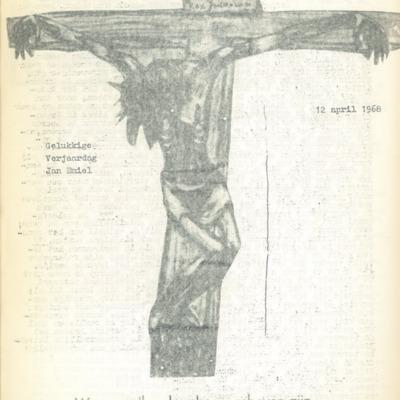 Creatieve uitspatting: Collage 'Gekruisigde Christus' - daele 15/16