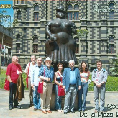 Dichtersgezelschap op het Poëziefestival van Medellin (Colombia)