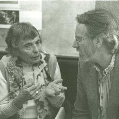 Stefaan van den Bremt in gesprek met zijn vertaalster Sonja Berg Pleijel