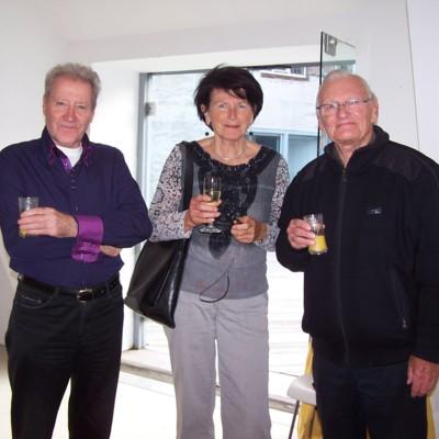Renaat Ramon met Jan en Margreet Van der Hoeven