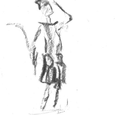 Tekeningen van Tineke Van Hemeldonck voor Apéro Poëzie #3 tijdens TAZ 2018