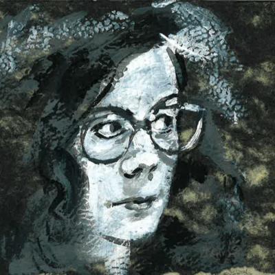 Tekeningen van Ann De Bode op Apéro Poëzie #4 tijdens TAZ