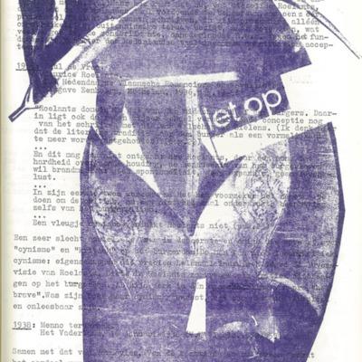 Creatieve uitspatting: collage 'Let op' - daele 5/6